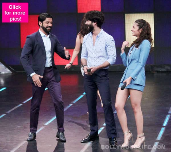When witty Farhan Akhtar left Shaandaar's Shahid Kapoor and Alia Bhatt in splits- view HQ pics!