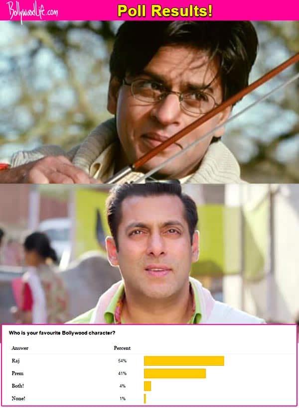 Fans choose Shah Rukh Khan's Raj over Salman Khan's Prem as their favourite character!