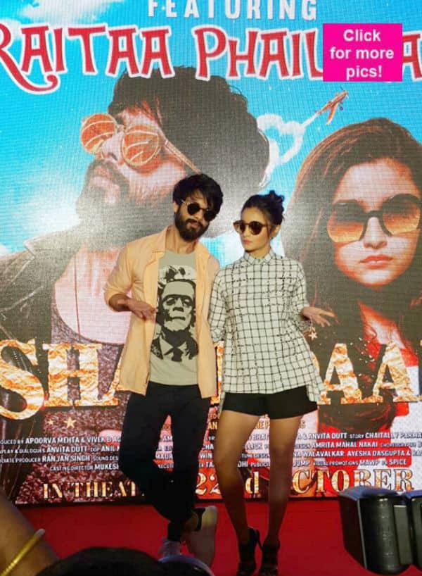 Shahid Kapoor and Alia Bhatt's goofy chemistry at the launch of Raitaa phail gaya will make you CHUCKLE – view pics!