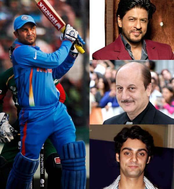 Shah Rukh Khan, Anupam Kher, Karan Wahi bid adieu to Virendra Sehwag after he announced retirement!
