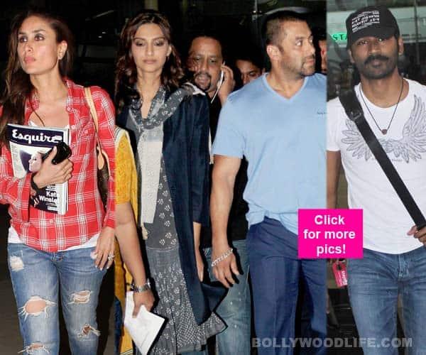An angry Salman Khan, svelte Kareena Kapoor Khan, uber-cool Dhanush spotted at Mumbai airport – View HQ pics!