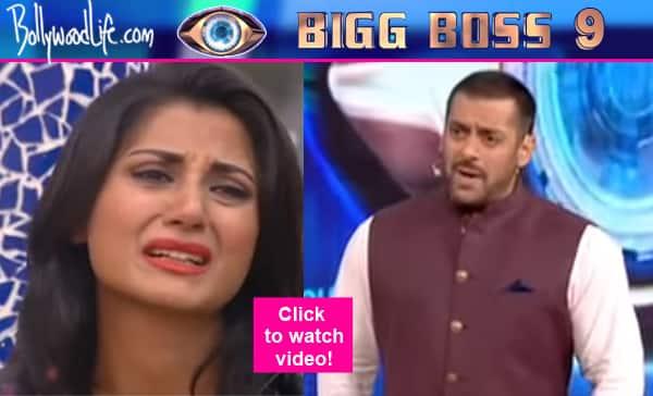 Bigg Boss 9: Rimi Sen breaks down, Salman Khan calls her WEAK- watchvideo!