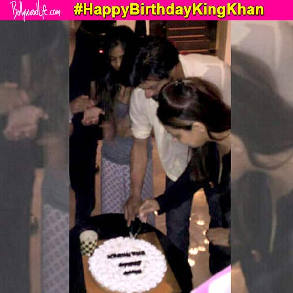 Shah Rukh Khan gets the SWEETEST birthday surprise from wife Gauri and kids Aryan-Suhaana-AbRam – view pic!