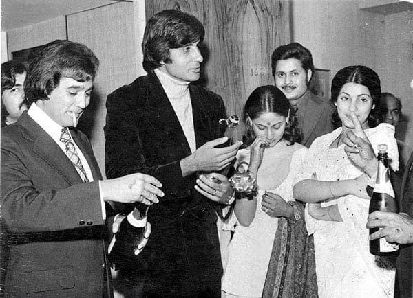 When Amitabh Bachchan and Rajesh Khanna partied together…