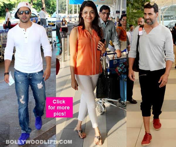 Akshay Kumar, Varun Dhawan, Anil Kapoor, Kajal Aggarwal, Abhishek Bachchan spotted at Mumbai airport – View HQ pics!