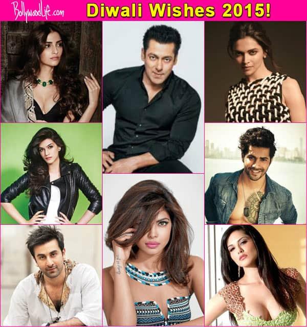 Diwali 2015: Varun Dhawan, Salman Khan, Sonam Kapoor, Priyanka Chopra, Ranbir Kapoor, Deepika Padukone wish their fans a HAPPYDIWALI!