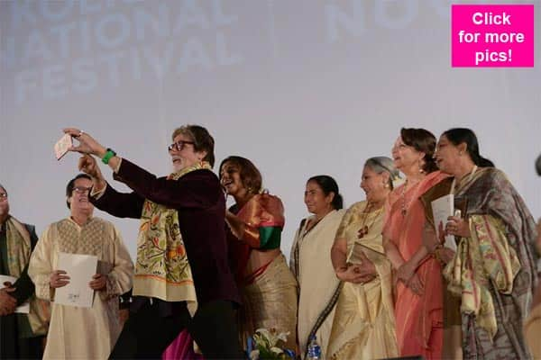 Amitabh Bachchan, Jaya Bachchan, Vidya Balan and Sharmila Tagore at Kolkata International Film Festival