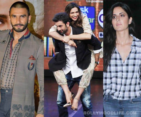 Ranveer Singh and Katrina Kaif seriously UPSET with Ranbir Kapoor and Deepika Padukone's Tamasha love!