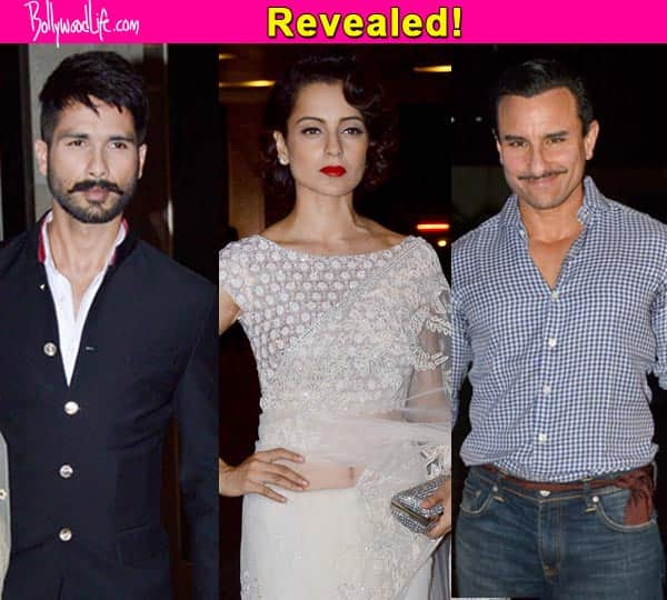 REVEALED! Kangana Ranaut, Shahid Kapoor and Saif Ali Khan's look from Rangoon!