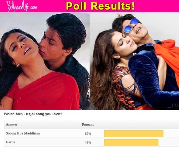 Shah Rukh Khan – Kajol's Sooraj Hua Maddham more popular than Gerua from Dilwale – view poll results!