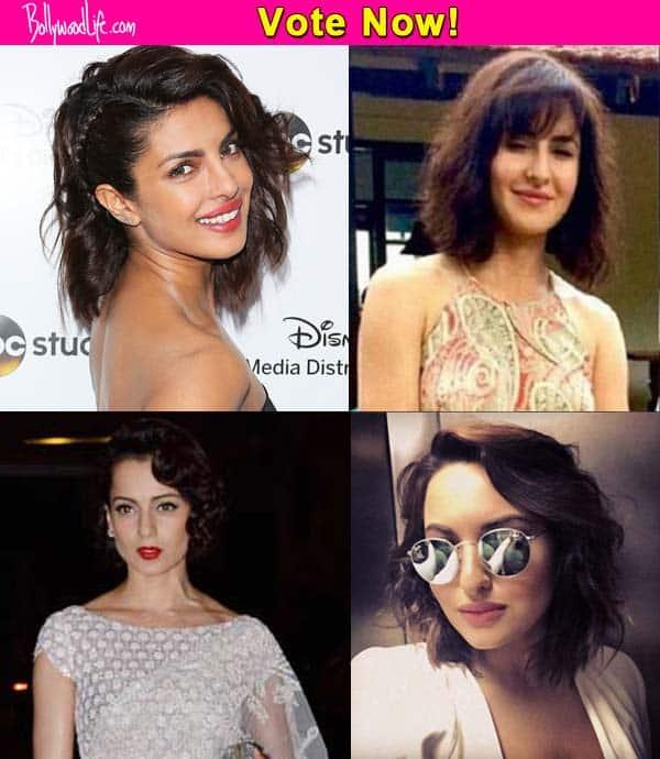 Katrina Kaif Kangana Ranaut Priyanka Chopra Who Nailed The Short Hair Look Bollywood News Gossip Movie Reviews Trailers Videos At Bollywoodlife Com