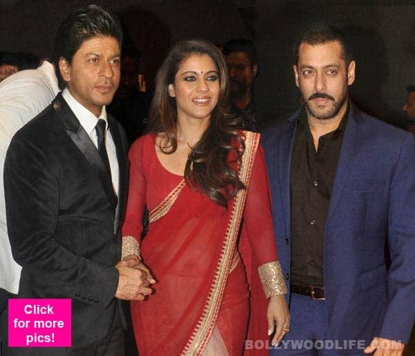 After Bigg Boss 9, Shah Rukh Khan, Kajol, Salman Khan bond BIG TIME at the Stardust Awards 2015 – view pics!