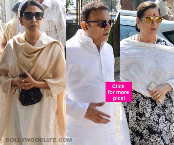 Veteran actors attend late Sadhana Shivdasani's funeral – view pics!