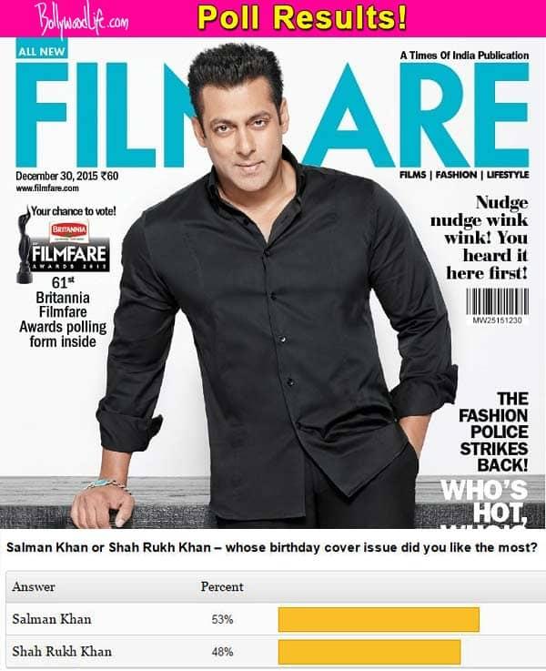 Salman Khan BEATS Shah Rukh Khan in the birthday cover poll – view results!