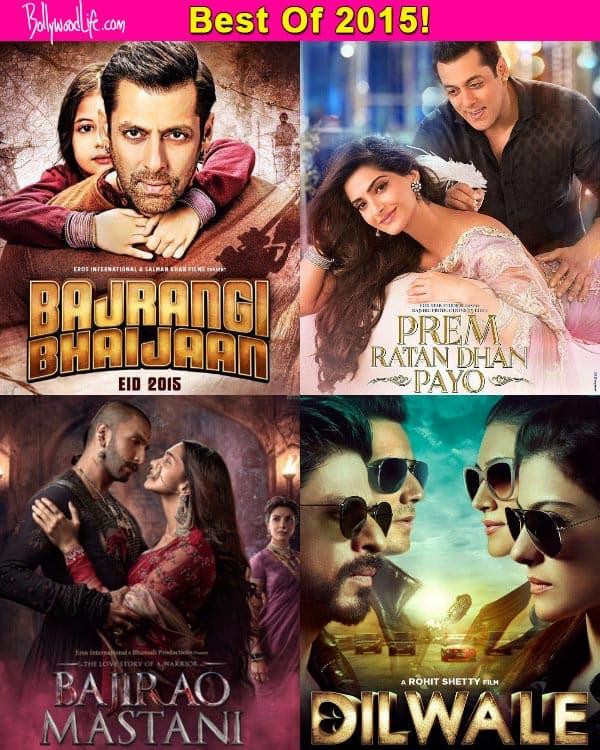 Salman's Bajrangi Bhaijaan and Prem Ratan Dhan Payo, Shah Rukh's Dilwale, Ranveer's Bajirao Mastani rule the TOP box office earners list of 2015!