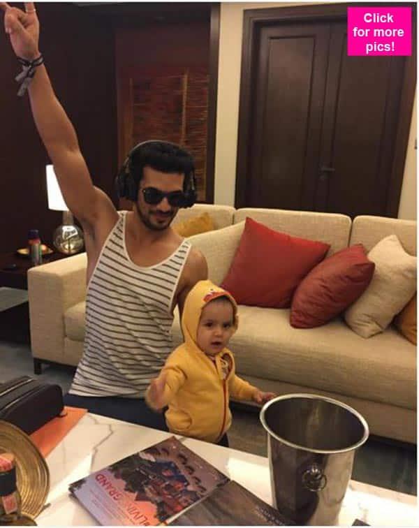 Arjun Bijlani and his son, Ayaan are the ULTIMATE rockstars – view pics!!