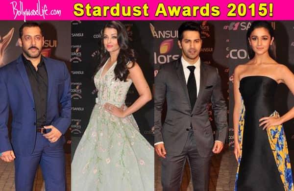 Stardust Awards 2015: Salman Khan, Varun Dhawan, Alia Bhatt, Aishwarya Rai Bachchan make a stylish entry – view pics!