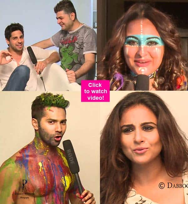 Dabbo Ratnani Calendar 2016: Sonakshi Sinha, Varun Dhawan, Vidya Balan, Sidharth Malhotra reveal exclusive details about their shots – watch video!