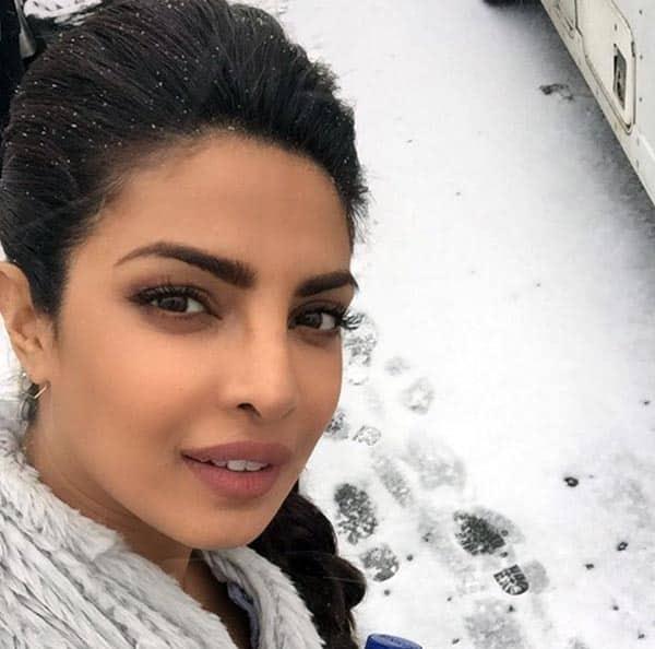 Priyanka Chopra overjoyed by snowfall in Montreal – view pics!