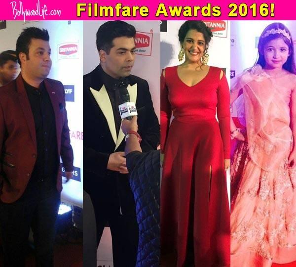 Filmfare Awards 2016: Karan Johar, Varun Sharma, Sanah Kapoor and Harshaali Malhotra STUN at the red carpet!