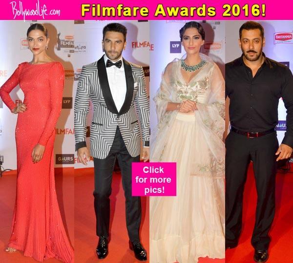 Filmfare Awards 2016: Red hot Deepika Padukone, sauve Salman Khan, elegant Sonam Kapoor, quirky Ranveer Singh – who slayed the red carpet?
