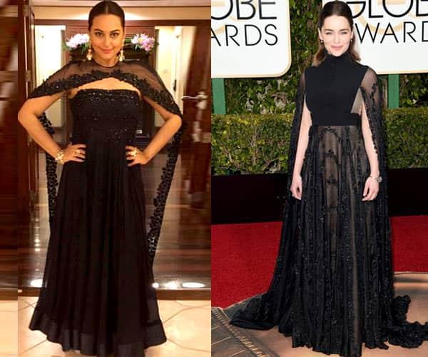 Sonakshi Sinha's ensemble inspired by Emilia Clarke's?