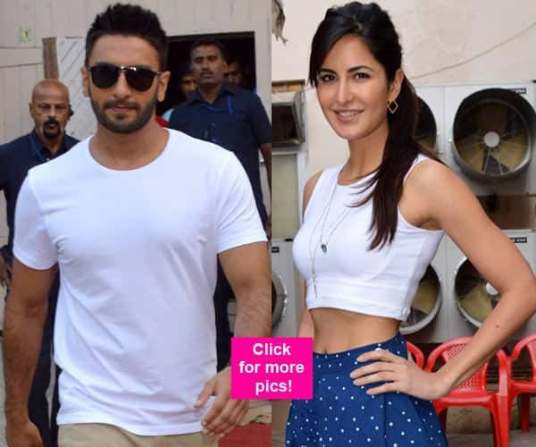 Katrina Kaif and Ranveer Singh spotted at a film studio – view HQ pics!