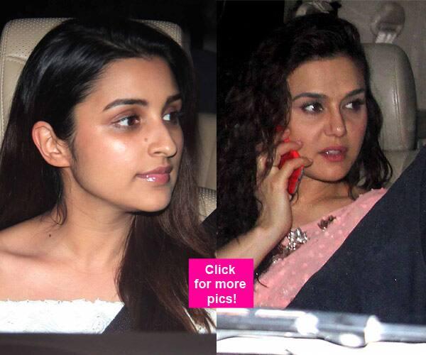Spotted: Parineeti Chopra, Preity Zinta, Karan Johar at Manish Malhotra's party – view HQ pics!