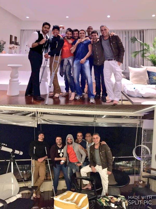 Hrithik Roshan PARTIES with Abhishek Bachchan despite being injured – view pic!