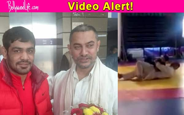 This CUTE video of Aamir Khan wrestling with Sushil Kumar's son will win your hearts!
