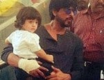 Watch video: Daddy dearest Shah Rukh Khan carrying adorable AbRam in his arms is EVERYTHING!