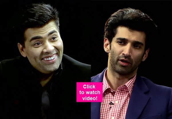 Karan Johar reveals his KINKY side and leaves Aditya Roy Kapur in splits  – watch video!