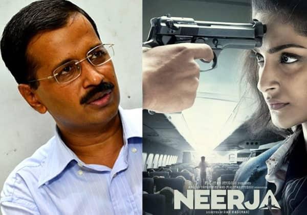 Delhi CM Arvind Kejriwal watches Sonam Kapoor's Neerja