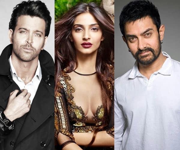 What is common between Sonam Kapoor, Aamir Khan and Hrithik Roshan?