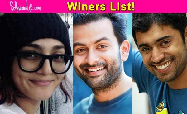 Prithviraj, Nivin Pauly and Parvathy win big at Vanitha awards!
