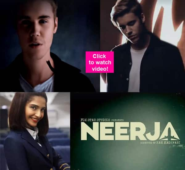 Haha! Look how Justin Beiber is promoting Sonam Kapoor's Neerja!
