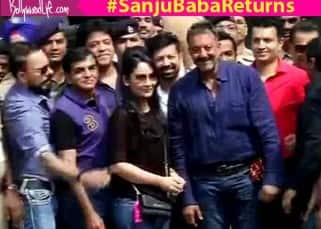 Sanjay Dutt's release from Jail: The eagle has landed at Mumbai airport and he looks super happy with family!