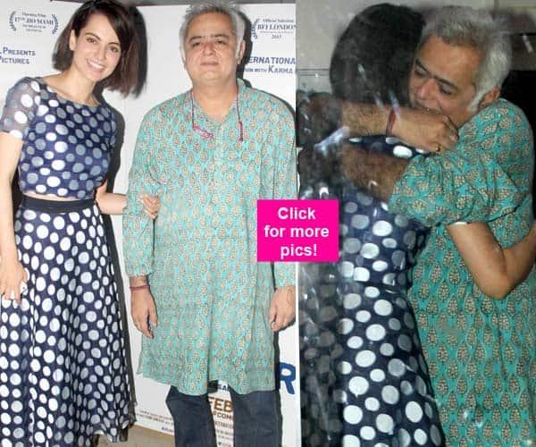 Kangana Ranaut and Aligarh director Hansal Mehta share a BIG hug at the screening of the film – view HQ pics!