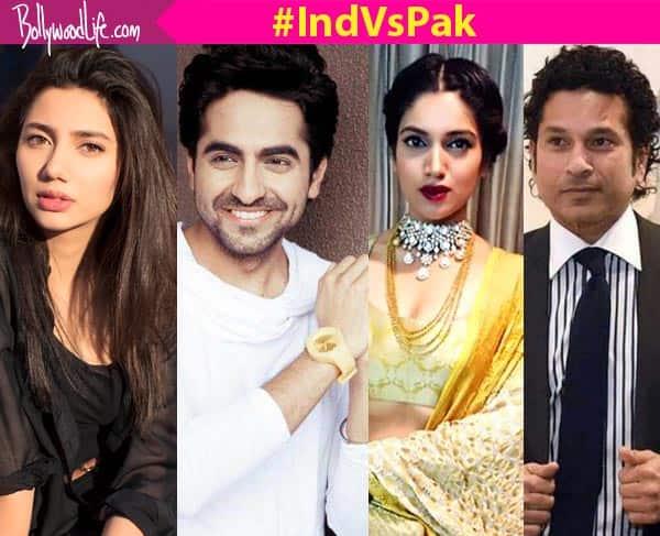 India versus Pakistan: Shah Rukh's Raees actress Mahira, Ayushmann, Sachin, Amitabh celebrate the Indian team's victory!