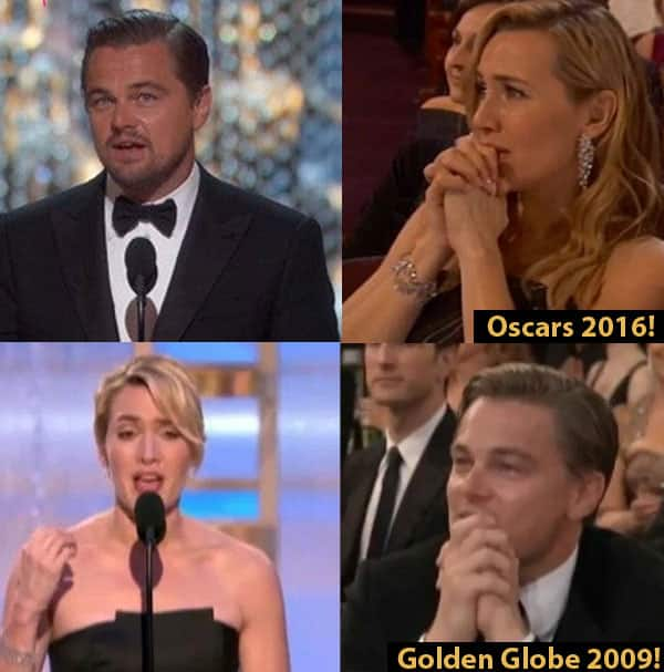 Kate Winslet looking at Leonardo DiCaprio winning an Oscar is a MAJOR THROWBACK – here's how!