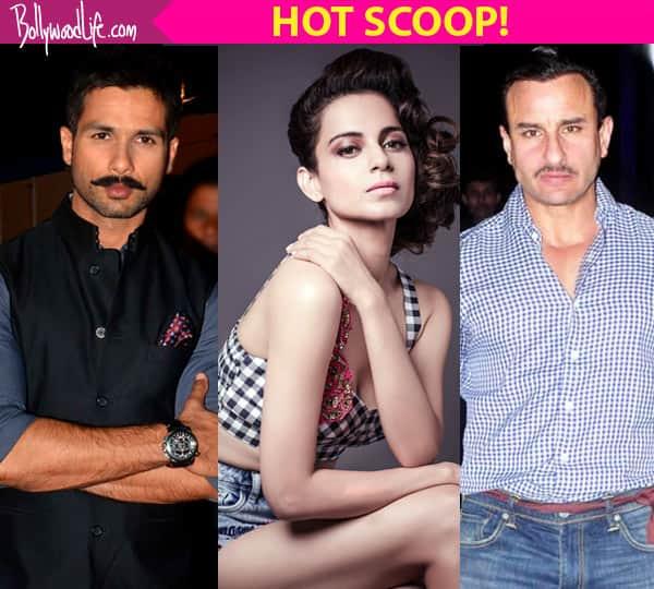 Kangana Ranaut making co-stars Shahid Kapoor and Saif Ali Khan INSECURE on sets of Rangoon !
