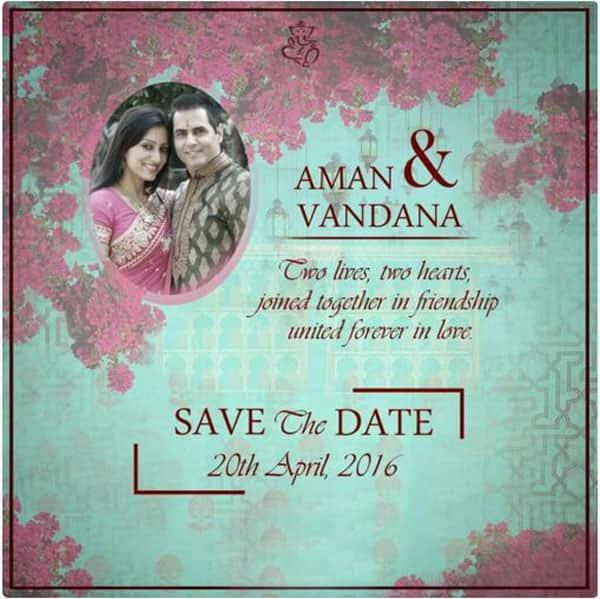 Here's how Aman Verma and Vandana Lalwani's wedding card will look like!