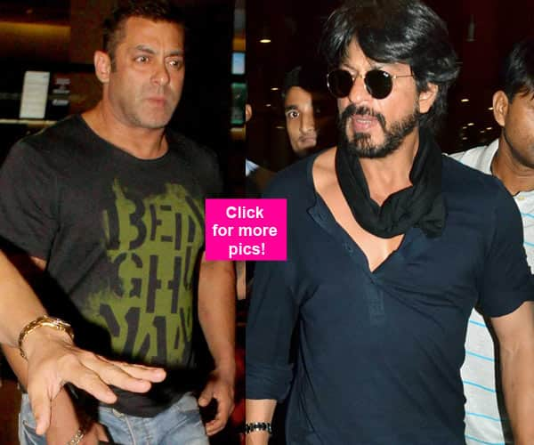 Salman Khan and Shah Rukh Khan are back from Dubai- view HQ pics!