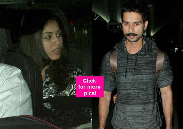 Aww! Mira Rajput receives hubby Shahid Kapoor at the airport – view HQ pics!