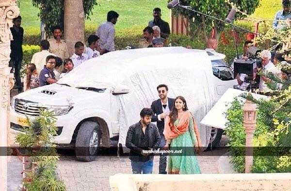 Ranbir Kapoor, Anushka Sharma and Fawad Khan on the sets of Ae Dil Hai Mushkil sets