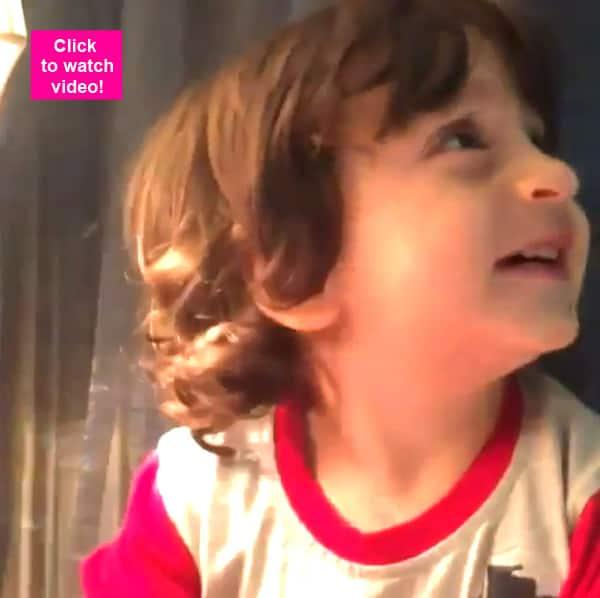 Shah Rukh Khan's son AbRam looks ADORABLY CUTE talking to family ...