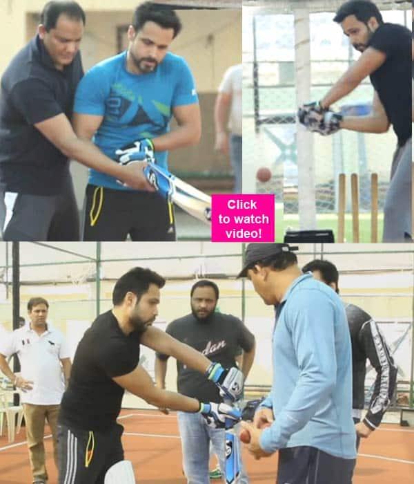 Azhar star Emraan Hashmi perfects his cricketing moves under Mohammad Azharuddin's HAWK eyes – watch video!