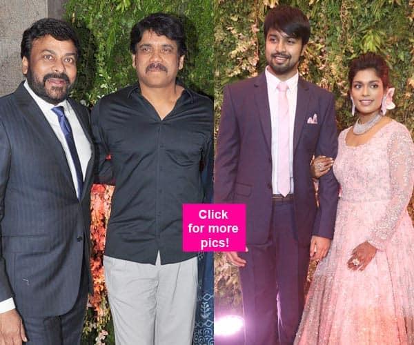 Nagarjuna, SS Rajamouli, Chandrababu Naidu, Allu Arjun grace Srija's wedding reception!
