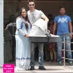 Salman Khan's sister Arpita Khan Sharma leaves the hospital with baby Ahil – View HQ pics!