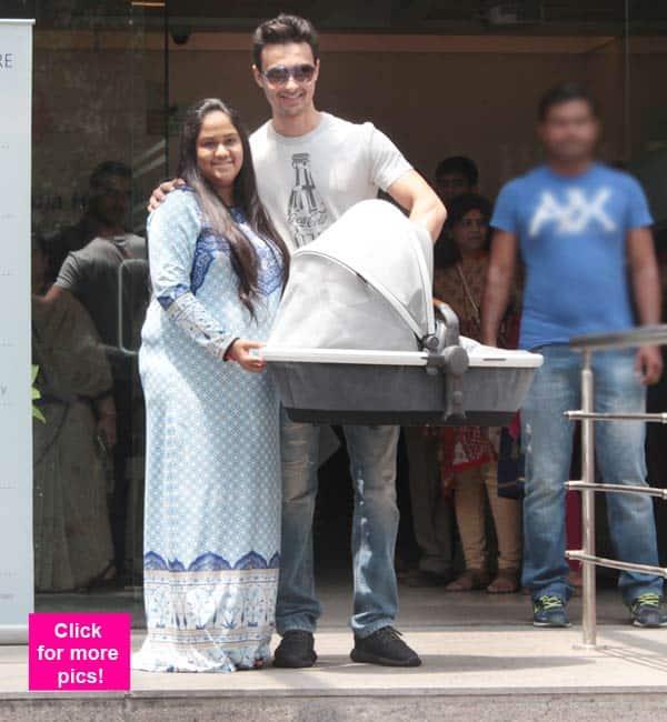 Salman Khan's sister Arpita Khan Sharma leaves the hospital with baby Ahil – View HQ pics!
